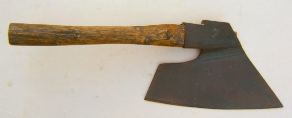 17th CENTURY GERMAN HEWING AXE, ca. 1675 front