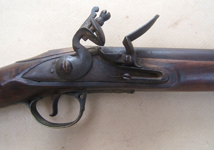 "A FINE+ AMERICAN USED NAPOLEONIC/WAR of 1812 PERIOD ENGLISH FLINTLOCK ""ROYAL ARTILLERY/ SERGEANT'S"" CARBINE, ca. 1810s view 3"