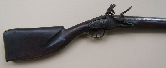 A VERY GOOD AMERICAN REVOLUTIONARY WAR PERIOD NEW ENGLAND CLUB-BUTT FOWLER-MUSKET, ca. 1777  view 1