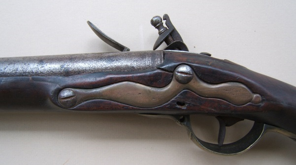 A VERY GOOD AMERICAN REVOLUTIONARY WAR PERIOD NEW ENGLAND CLUB-BUTT FOWLER-MUSKET, ca. 1777  view 4