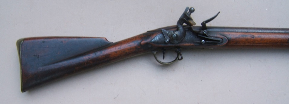 A VERY GOOD WAR OF 1812/NAPOLEANIC WAR PERIOD UNIT MARKED ENGLISH LARGE/MUSKET-BORE (.75 cal.) CARBINE w/ EXPERIMENTAL? DOGLOCK REAR SAFETY, ca. 1800 view 5