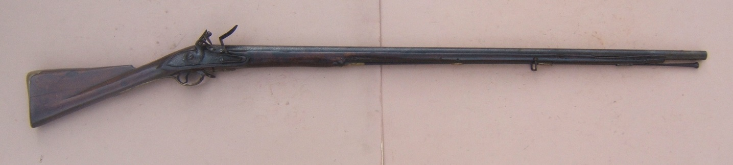 "A VERY GOOD AMERICAN REVOLUTIONARY WAR PERIOD COMNMERICIALLY MANUFACTURED FIRST MODEL/LONGLAND PATTERN 1756 BROWN BESS MUSKET, by ""GRICE"", ca. 1760 view 1"