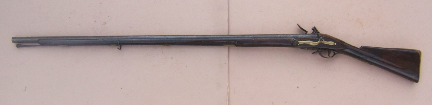 "A VERY GOOD AMERICAN REVOLUTIONARY WAR PERIOD COMNMERICIALLY MANUFACTURED FIRST MODEL/LONGLAND PATTERN 1756 BROWN BESS MUSKET, by ""GRICE"", ca. 1760 view 2"