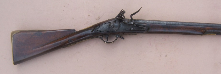 "A VERY GOOD AMERICAN REVOLUTIONARY WAR PERIOD COMNMERICIALLY MANUFACTURED FIRST MODEL/LONGLAND PATTERN 1756 BROWN BESS MUSKET, by ""GRICE"", ca. 1760 view 3"