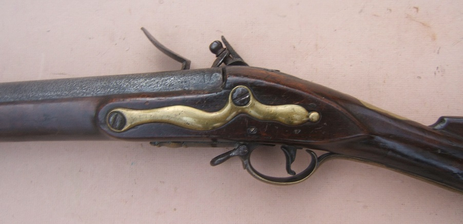 "A VERY GOOD AMERICAN REVOLUTIONARY WAR PERIOD COMNMERICIALLY MANUFACTURED FIRST MODEL/LONGLAND PATTERN 1756 BROWN BESS MUSKET, by ""GRICE"", ca. 1760 view 5"
