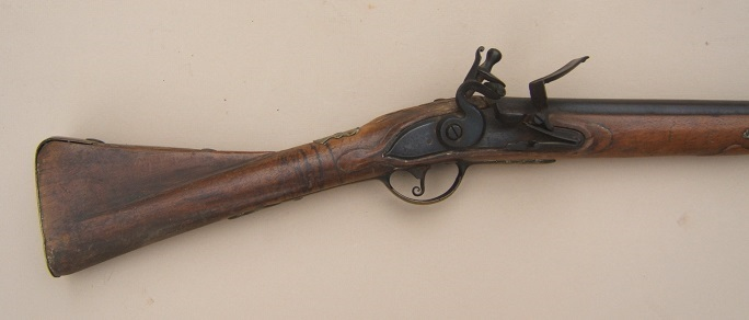 "A SCARCE UNTOUCHED AMERICAN REVOLUTIONARY WAR PERIOD GERMANIC FLINTLOCK ""HESSIAN"" MUSKET, ca. 1740 view 1"