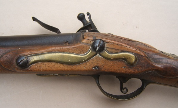 "A SCARCE UNTOUCHED AMERICAN REVOLUTIONARY WAR PERIOD GERMANIC FLINTLOCK ""HESSIAN"" MUSKET, ca. 1740 view 4"
