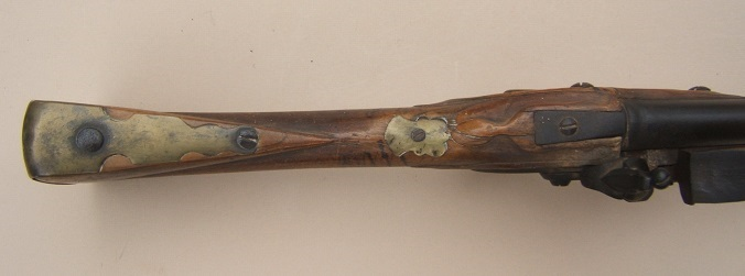 "A SCARCE UNTOUCHED AMERICAN REVOLUTIONARY WAR PERIOD GERMANIC FLINTLOCK ""HESSIAN"" MUSKET, ca. 1740 view 45"