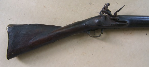 A VERY GOOD COLONIAL/FRENCH & INDIAN WAR PERIOD MAPLE STOCK HUDSON VALLEY LONG FOWLER, ca. 1750 view 1