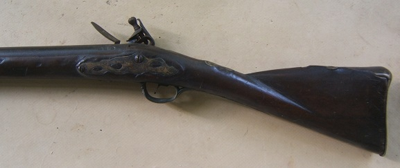 AA VERY GOOD COLONIAL/FRENCH & INDIAN WAR PERIOD MAPLE STOCK HUDSON VALLEY LONG FOWLER, ca. 1750 view 2