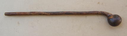 A FINE & ORIGINAL MID 18th CENTURY FRENCH & INDIAN WAR PERIOD SENECA WAR CLUB/DEATH HAMMER, ca. 1750 view 1