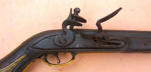 AN EARLY, RARE & DATED COLONIAL PERIOD AMERICAN FLINTLOCK PISTOL, dtd. 1769 view 3