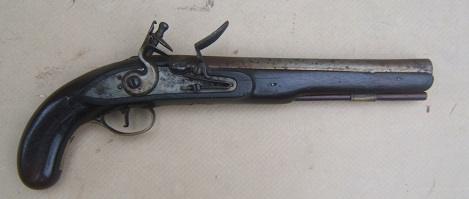 A FINE FEDERAL/WAR OF 1812 PERIOD AMERICAN SECONDARY MARTIAL FLINTLOCK PISTOL, ca. 1800-1810 view 1