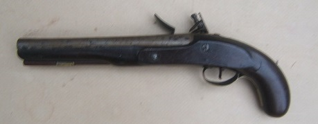 A FINE FEDERAL/WAR OF 1812 PERIOD AMERICAN SECONDARY MARTIAL FLINTLOCK PISTOL, ca. 1800-1810 view 2