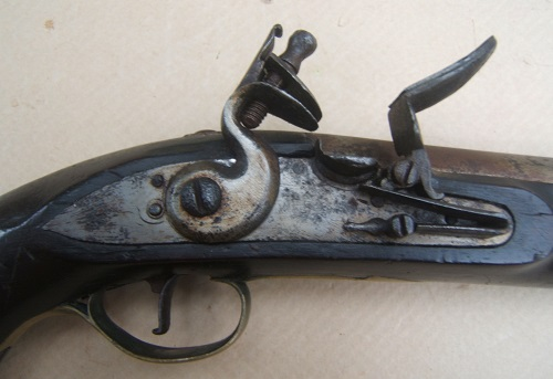 A FINE FEDERAL/WAR OF 1812 PERIOD AMERICAN SECONDARY MARTIAL FLINTLOCK PISTOL, ca. 1800-1810 view 3