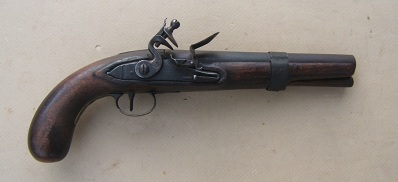 A VERY GOOD MUSKET-BORE AMERICAN FLINTLOCK �TRADE� PISTOL, ca. 1820 view 1