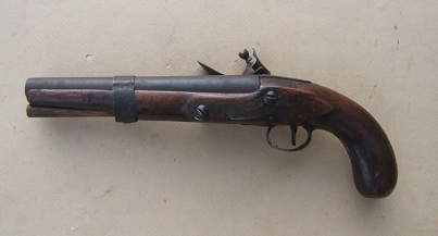 A VERY GOOD MUSKET-BORE AMERICAN FLINTLOCK �TRADE� PISTOL, ca. 1820 view 2