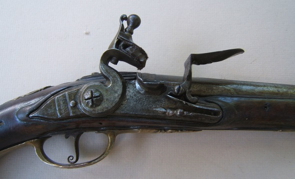 "A FINE & UNTOUCHED LATE 17TH/EARLY 18TH CENTURY FRENCH FLINTLOCK HOLSTER PISTOL, by ""PARMENTIER"", ca. 1690 view 3"