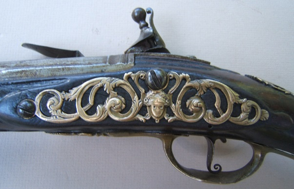 "A FINE & UNTOUCHED LATE 17TH/EARLY 18TH CENTURY FRENCH FLINTLOCK HOLSTER PISTOL, by ""PARMENTIER"", ca. 1690 view 4"