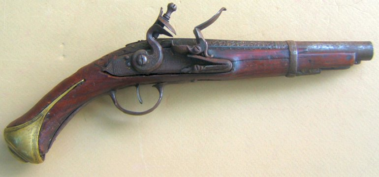 AN UNTOUCHED TURKISH FLINTLOCK HOLSTER PISTOL, ca. 1780-1820 view 1