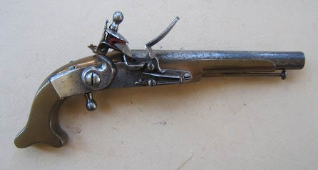ALL-METAL REVOLUTIONARY WAR PERIOD BLACK WATCH OFFICER'S PISTOL by John Waters, ca. 1770-1780 view 1