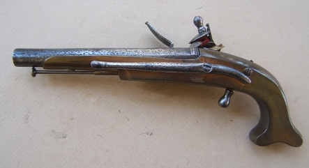 ALL-METAL REVOLUTIONARY WAR PERIOD BLACK WATCH OFFICER'S PISTOL by John Waters, ca. 1770-1780 view 2
