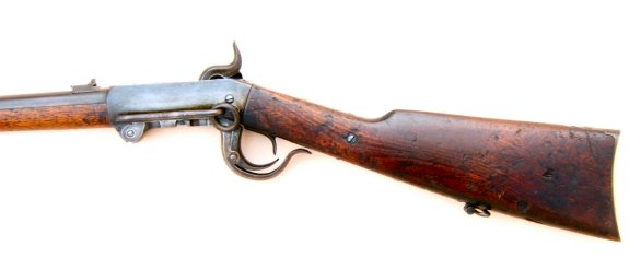 A FINE+ CIVIL WAR ISSUE BURNSIDE 4TH/5TH MODEL SADDLE RING CARBINE, ca. 1864 view 2