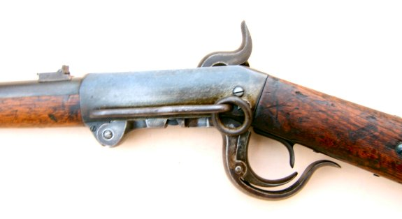 A FINE+ CIVIL WAR ISSUE BURNSIDE 4TH/5TH MODEL SADDLE RING CARBINE, ca. 1864 view 3
