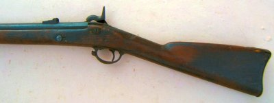 1884 A VERY GOOD UNTOUCHED TYPE III CONFEDERATE RICHMOND RIFLED MUSKET, dtd. 1863 view 2