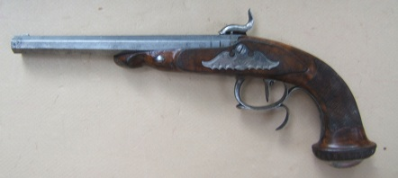 VERY GOOD & EARLY CASED PAIR OF PERCUSSION DUELLING PISTOLS BY �BOVY� of LIEGE, ca. 1840s view 6