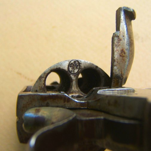 Very fine small size belgian made british bull dog revolver ca