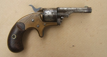 A VERY GOOD UNTOUCHED .22 CALIBER OPEN-TOP POCKET MODEL REVOLVER, ca. 1870s view 2