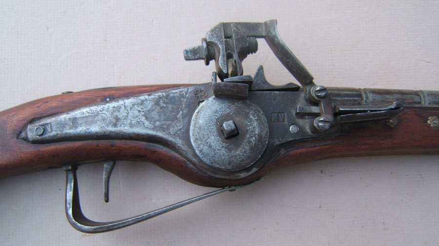 A VERY GOOD VICTORIAN ERA/17th CENTURY GERMAN STYLE WHEELOCK HOLSTER PISTOL, ca. 1630-1890 view 3
