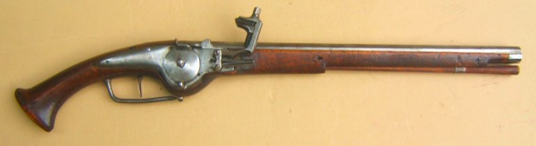 A VERY FINE+ 30 YEARS WAR PERIOD GERMAN WHEELOCK OFFICER'S PISTOL, ca. 1630 view 1