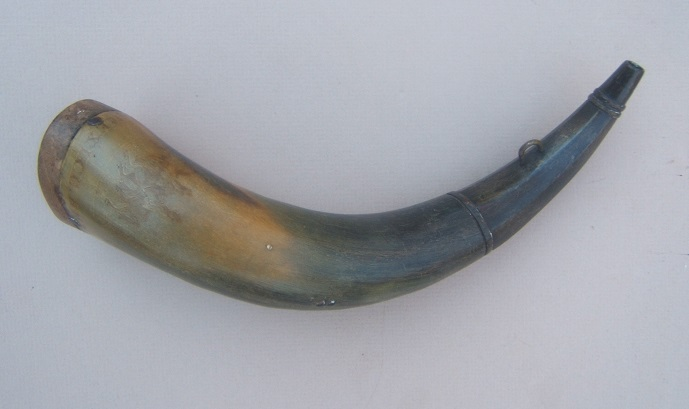 "A VERY FINE MEXICAN WAR PERIOD AMERICAN SOLDIER-ENGRAVED POWDER HORN w/ (BATTLE OF) ""BUENAVISTA 1848"" INSCRIPTIONview 1"