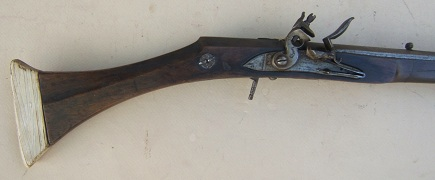 A FINE & RARE 19th CENTURY NORTH AFRICAN IVORY BUTT FLINTLOCK KABYLE