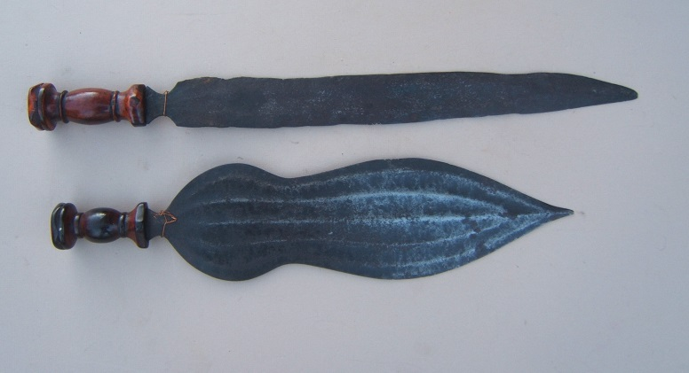 A GROUPING OF TWO (2) ORIGINAL EARLY 20TH CENTURY AFRICAN KNIVES, ca. 1930 view1