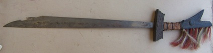 A FINE ORIGINAL 19TH CENTURY PHILIPPINE HEADHUNTER'S MANDAU SWORD, ca. 1880 view1