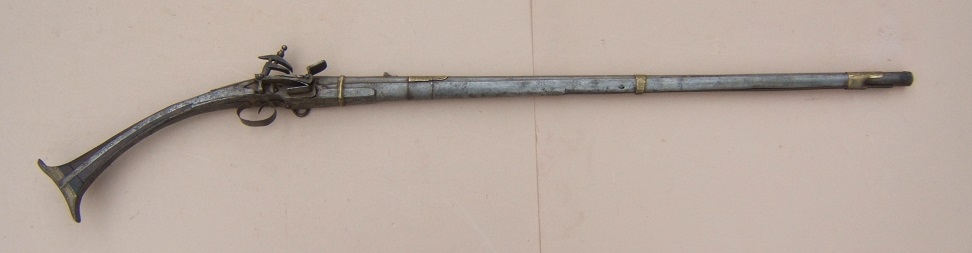 "A FINE QUALITY SMALL-SIZE ALBANIAN ""ALL-METAL"" MIQUELET LONG-GUN, ca. 1820 view1"