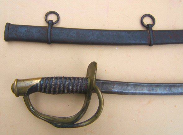 A VERY GOOD UNTOUCHED US MODEL 1860 AMES CAVALRY SWORD, dtd. 1863 view 2