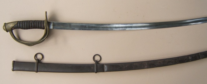 A VERY GOOD AMERICAN CIVIL WAR PERIOD IMPORT-TYPE US MODEL 1860 CAVALRY SABER & SCABBARD, ca. 1860 view 1