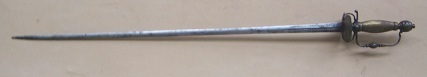 A FINE SCARCE & UNTOUCHED FRENCH & INDIAN/REVOLUTIONARY WAR PERIOD  CHISELED-STEEL HILT SMALLSWORD, ca. 1750 view 1