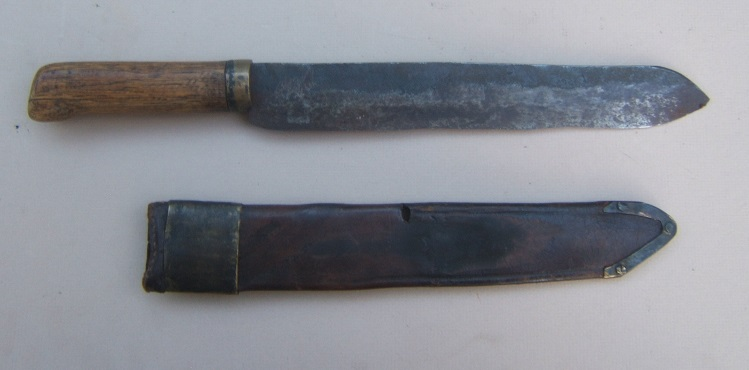 A VERY GOOD & UNTOUCHED AMERICAN BLACKSMITH-MADE CIVIL WAR PERIOD (CONFEDERATE?) BELT DAGGER/FIGHTING KNIFE, ca. 1860 view 2