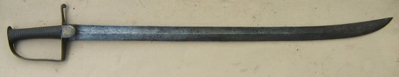 A VERY GOOD WAR OF 1812 PERIOD AMERICAN? CUTLASS/SABER, ca. 1810 view 1