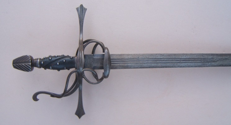 A FINE VICTORIAN ERA COPY OF A LATE 16TH/EARLY 17th CENTURY CENTRAL EUROPEAN {GERMAN TYPE} SWEPT-HILT RAPIER, ca. 1890 view 1