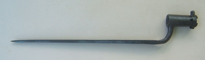 "A VERY RARE REVOLUTIONARY WAR PERIOD FRENCH MODEL 1766 ""CHARLEVILLE"" BAYONET w/ LOCKING-RING, ca. 1770 view 1"