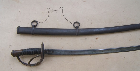 "A VERY GOOD AMERICAN CIVIL WAR PERIOD US MODEL 1860 CAVALRY SWORD, by ""ROBY"", ca. 1863 view 1"