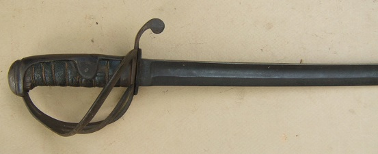 A VERY GOOD AMERICAN CIVIL WAR PERIOD MID-19th CENTURY CONTINENTAL (FRENCH?) CAVALRY SWORD/SABER, ca. 1850 view 1